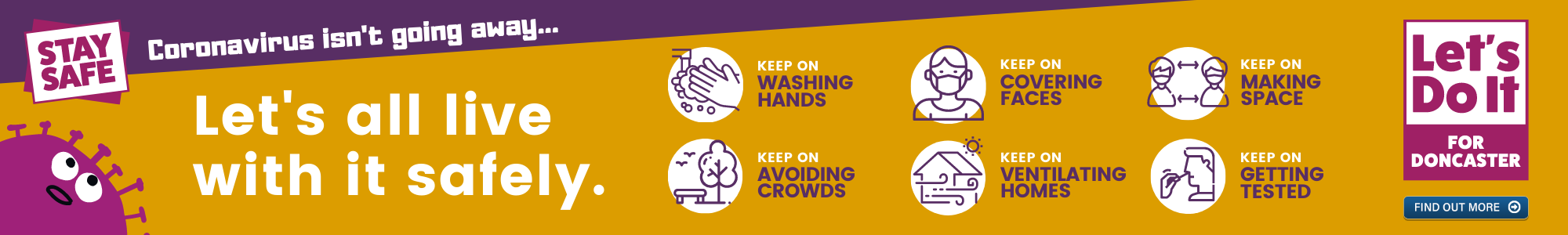 Banner image detailing Coronavirus safely measures