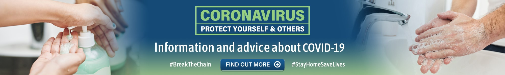 Coronavirus. Protect yourself and others. Information and advice about COVID-19