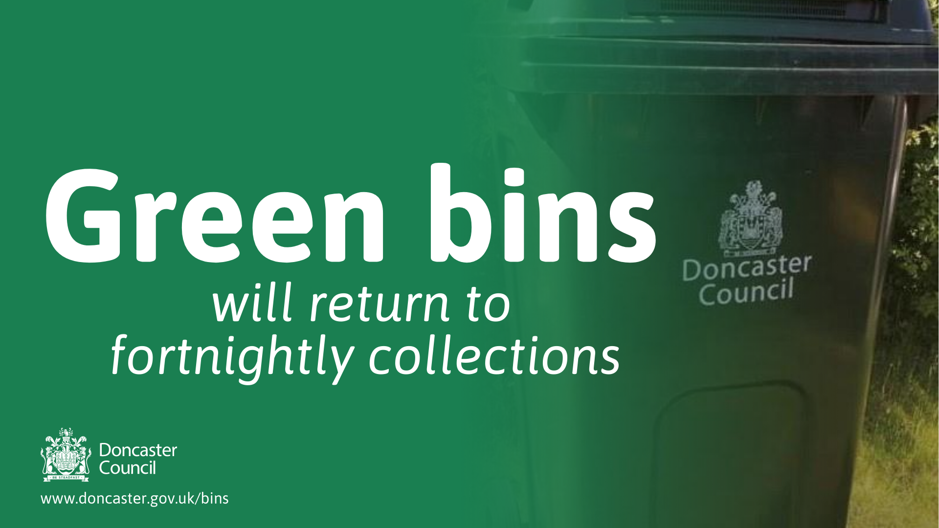 Green bins returning to fortnightly collections from 1st September
