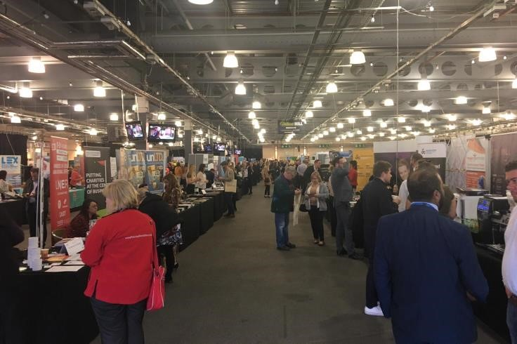 People visiting the stands at Doncaster Business Showcase