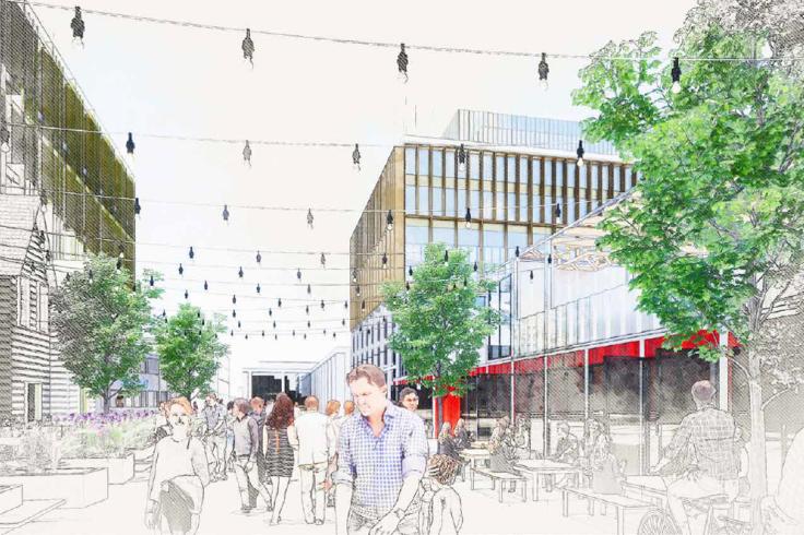 Doncaster's Future High Streets bid artist impression 4
