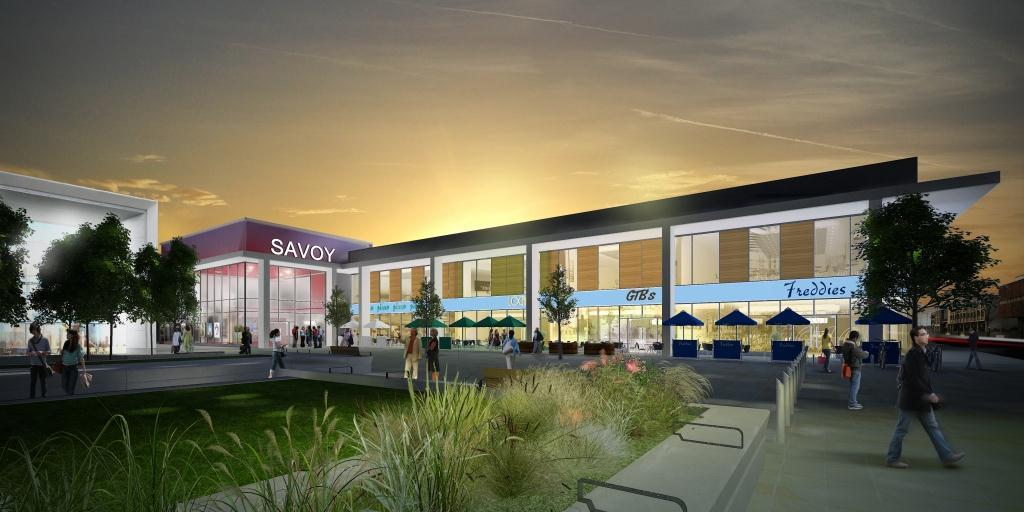 New cinema complex in Doncaster artist impression - evening MR