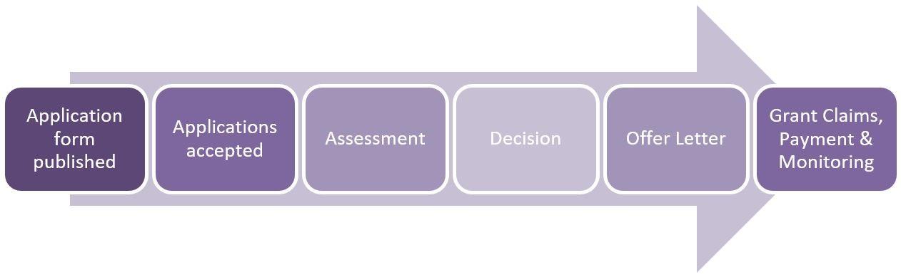 Digital Innovation Grant Application Process flowchart