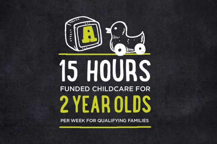15 hours funded childcare for 2 year olds banner image