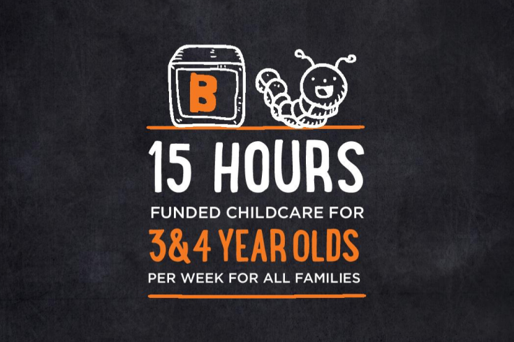 15 hours funded childcare 3 and 4 year olds banner image