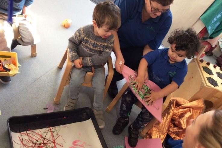 Children enjoying an arts and crafts activity