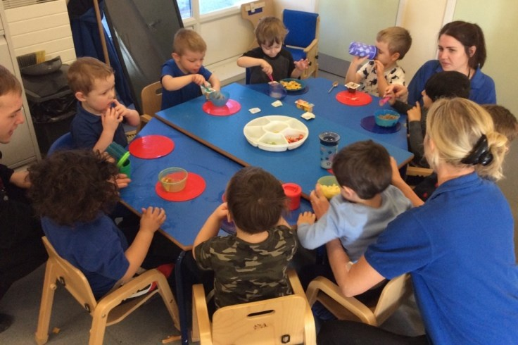 Snack time at the Seedlings Group