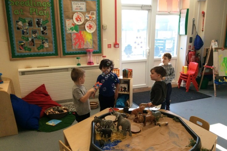Bubble fun for preschool children at the Seedlings Group