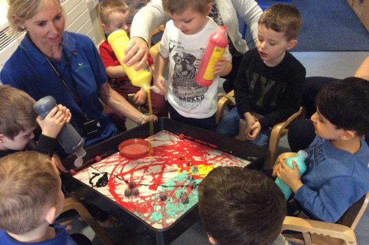 Painting at the Seedlings Group
