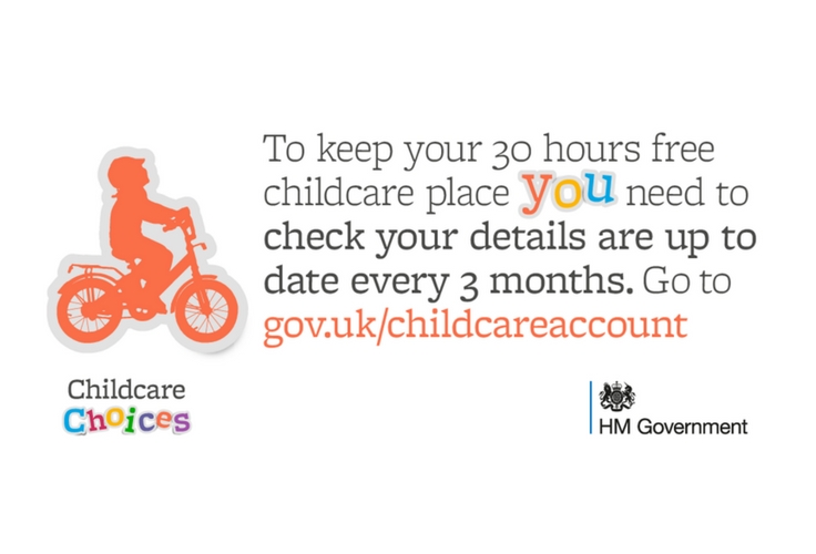 Log in to your childcare account to check your details