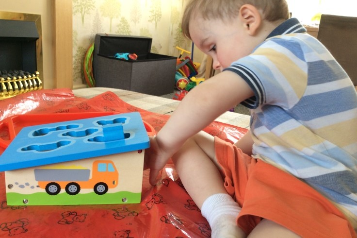 transport shape sorter activity at home