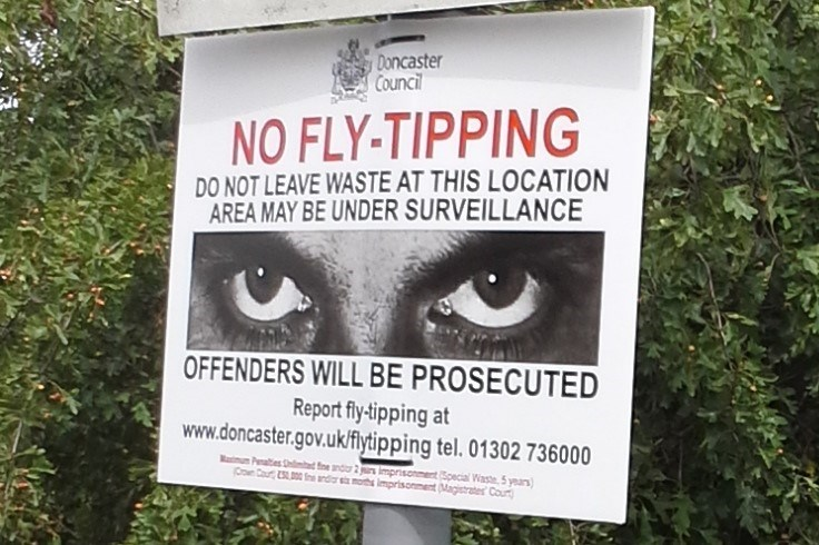 Waste prosecutions - fly tipping notice