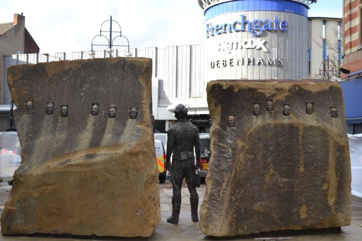 Doncaster's mining statue - rear view web