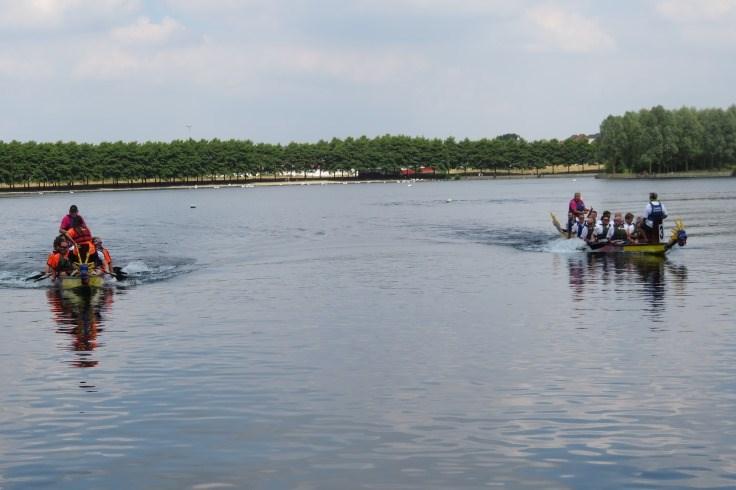 Dragon boat racing at Doncaster Lakeside