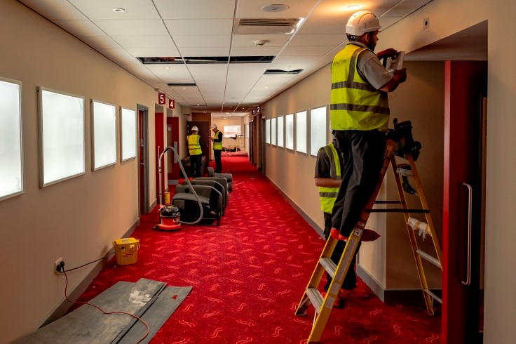 Finishing touches inside Savoy Doncaster cinema