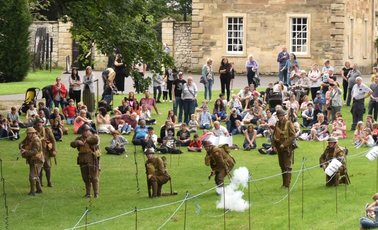 Volunteers marshalling a firing demonstration at the Life on the Home Front weekend