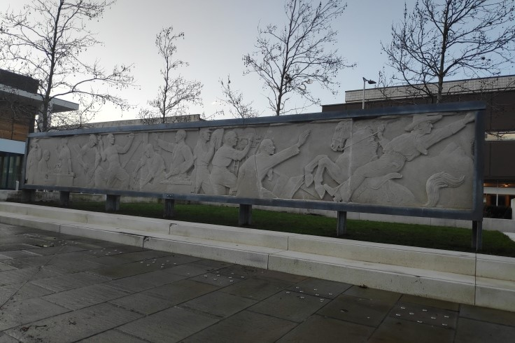 The Gaumont Frieze in Sir Nigel Gresley Square