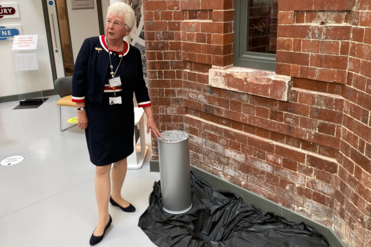 Mayor Ros Jones and the time capsule