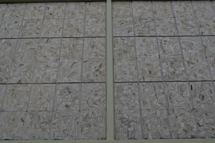 First floor marble panels