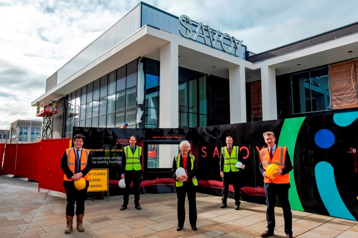 Partners pictured outside the Savoy Doncaster site