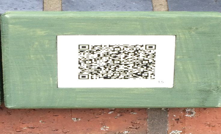 A picture of a QR code used for the trail