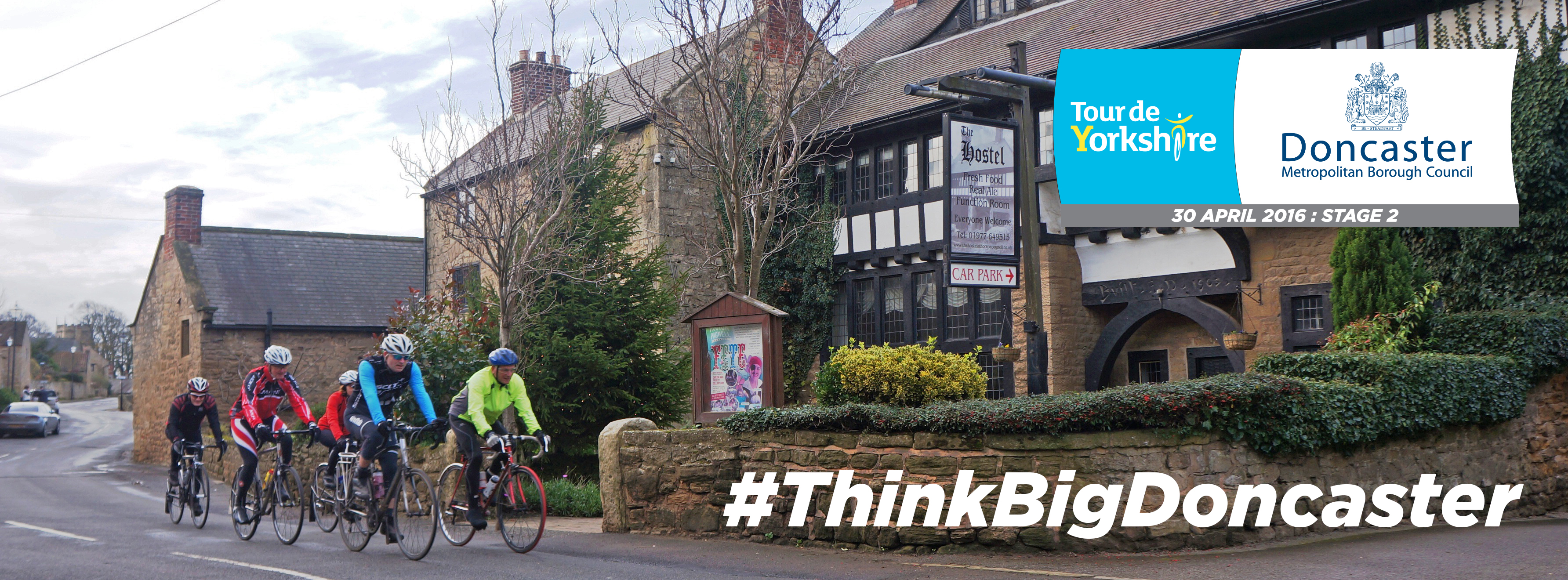 Bike riders travelling through Hooton Pagnell. #ThinkBigDoncaster