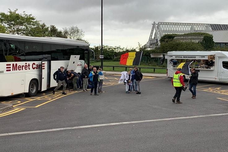 Belgium fans arriving