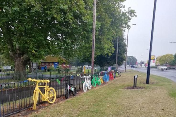 Friends of Sandall Park Bike display