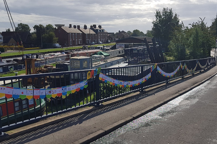 Thorne School Children Bunting on the Canal Bridge
