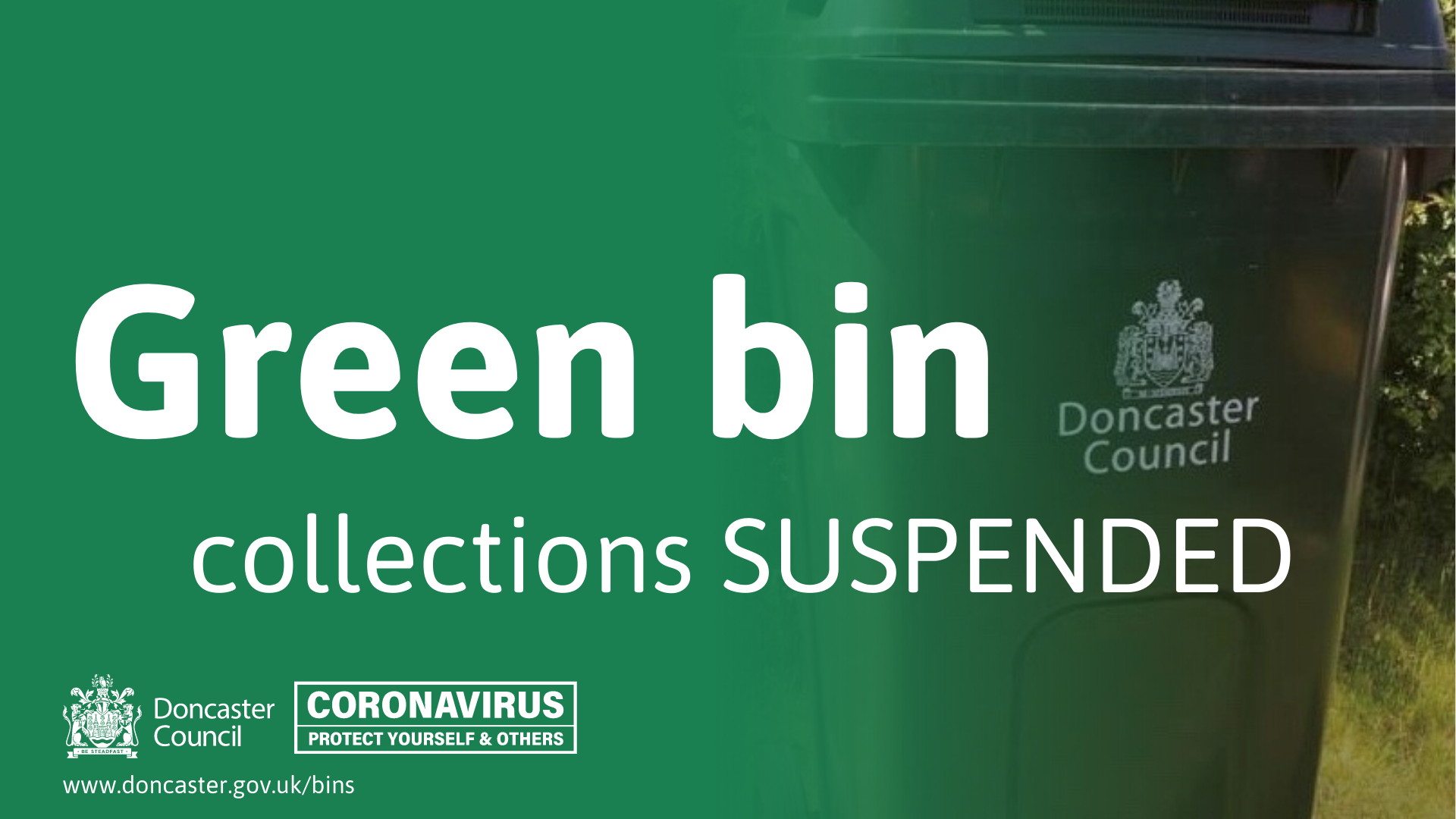 Green Bin Collections suspended notification.