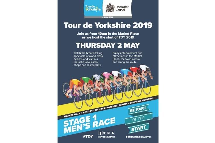 Tour de Yorkshire 2019 event poster