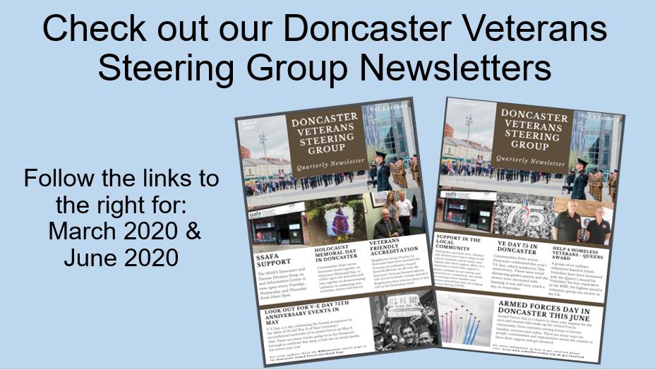 Doncaster Veterans Steering Group Newsletter snapshot