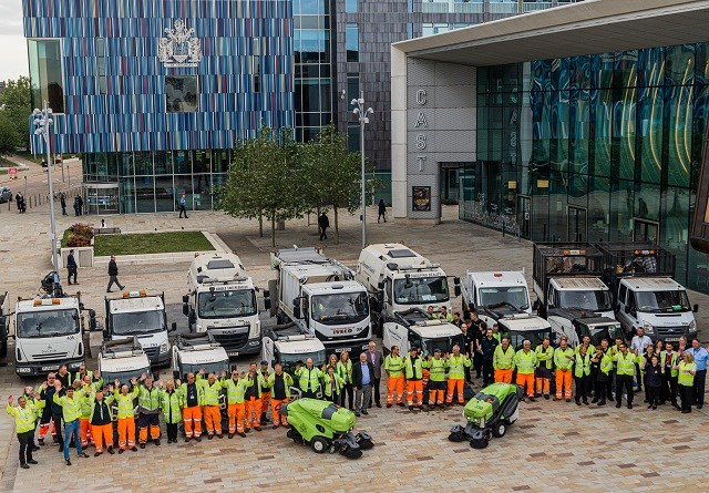 Council Big Clean Up Team outside Civic Office
