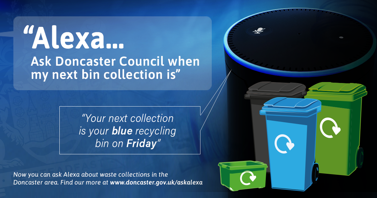 Ask Alexa about bin collections banner