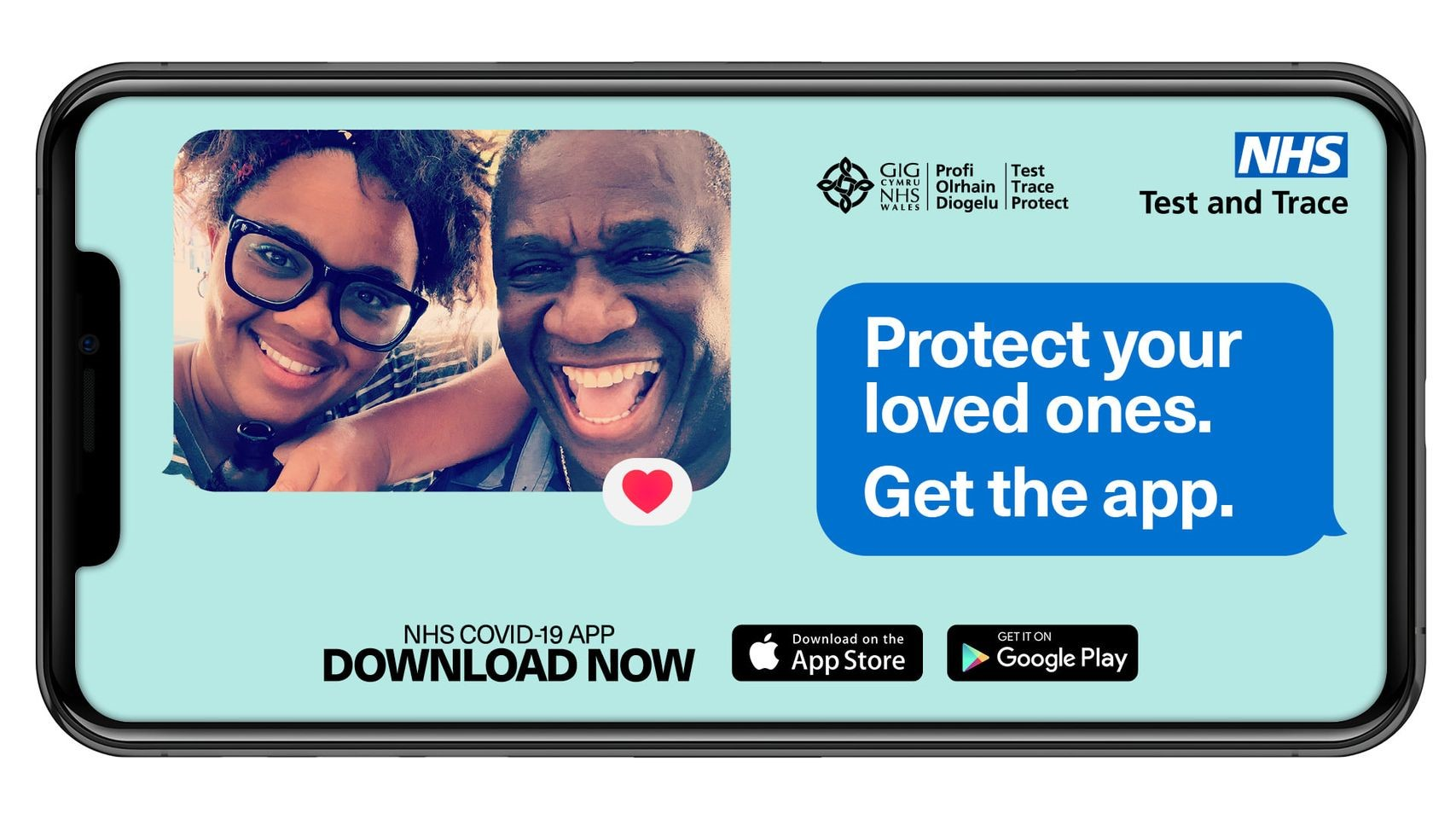Protect your loved ones, get the Covid 19 app