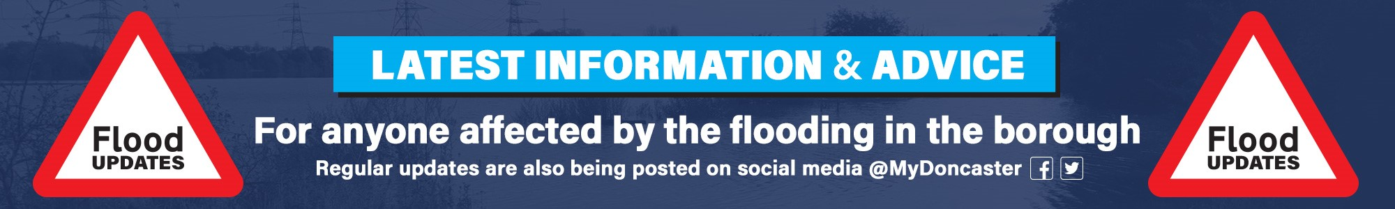 Flood updates - latest information for people affected by the flooding in the borough