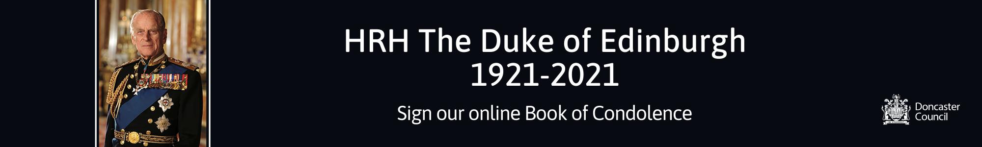 HRH The Duke of Edinburgh condolence book