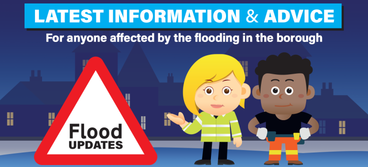 Latest flooding information banner graphic