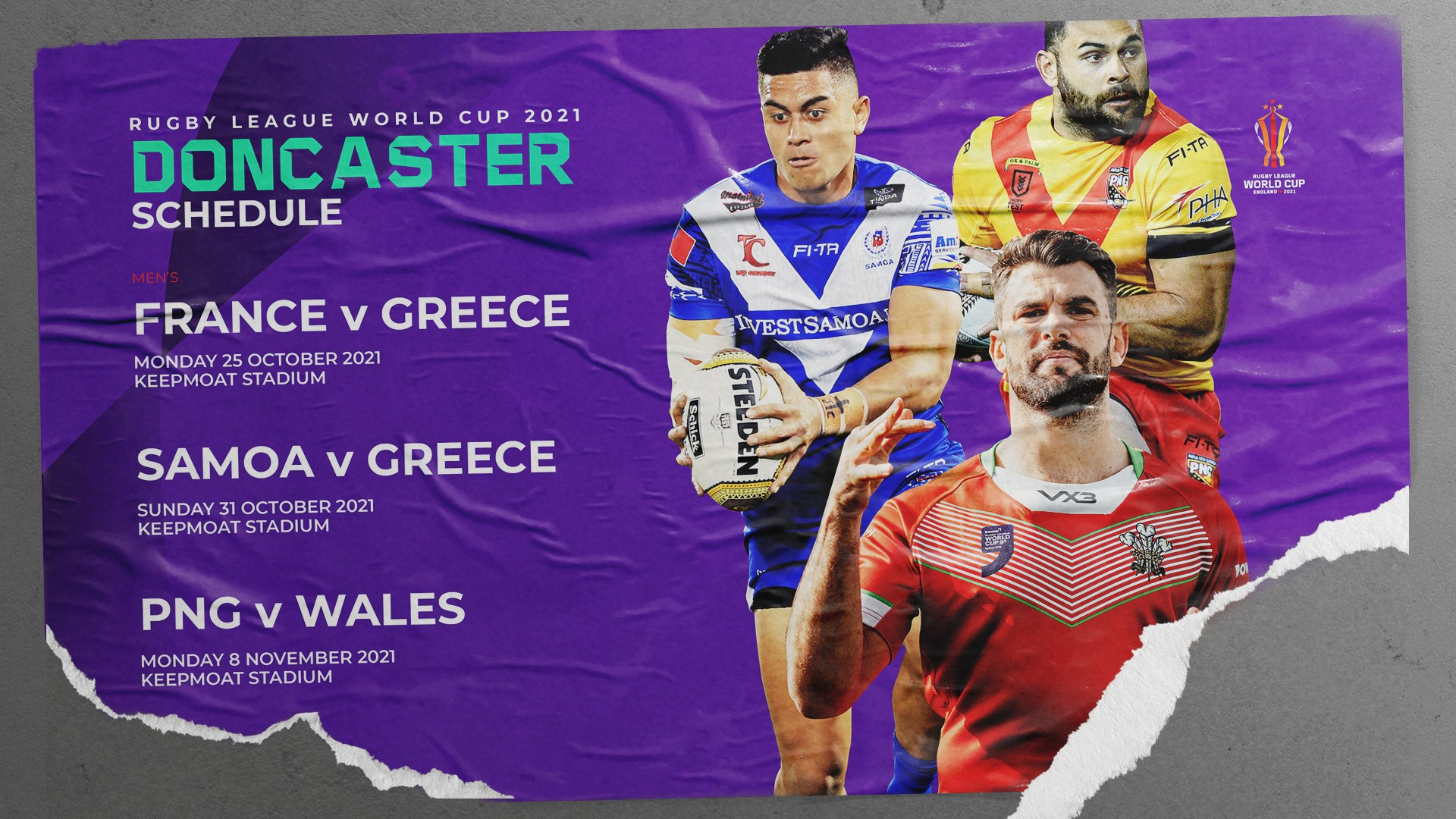 Rugby League World Cup 2021 Doncaster Schedule