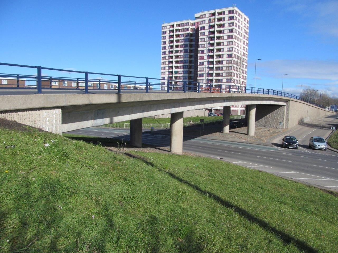 A flyover bridge in Balby.