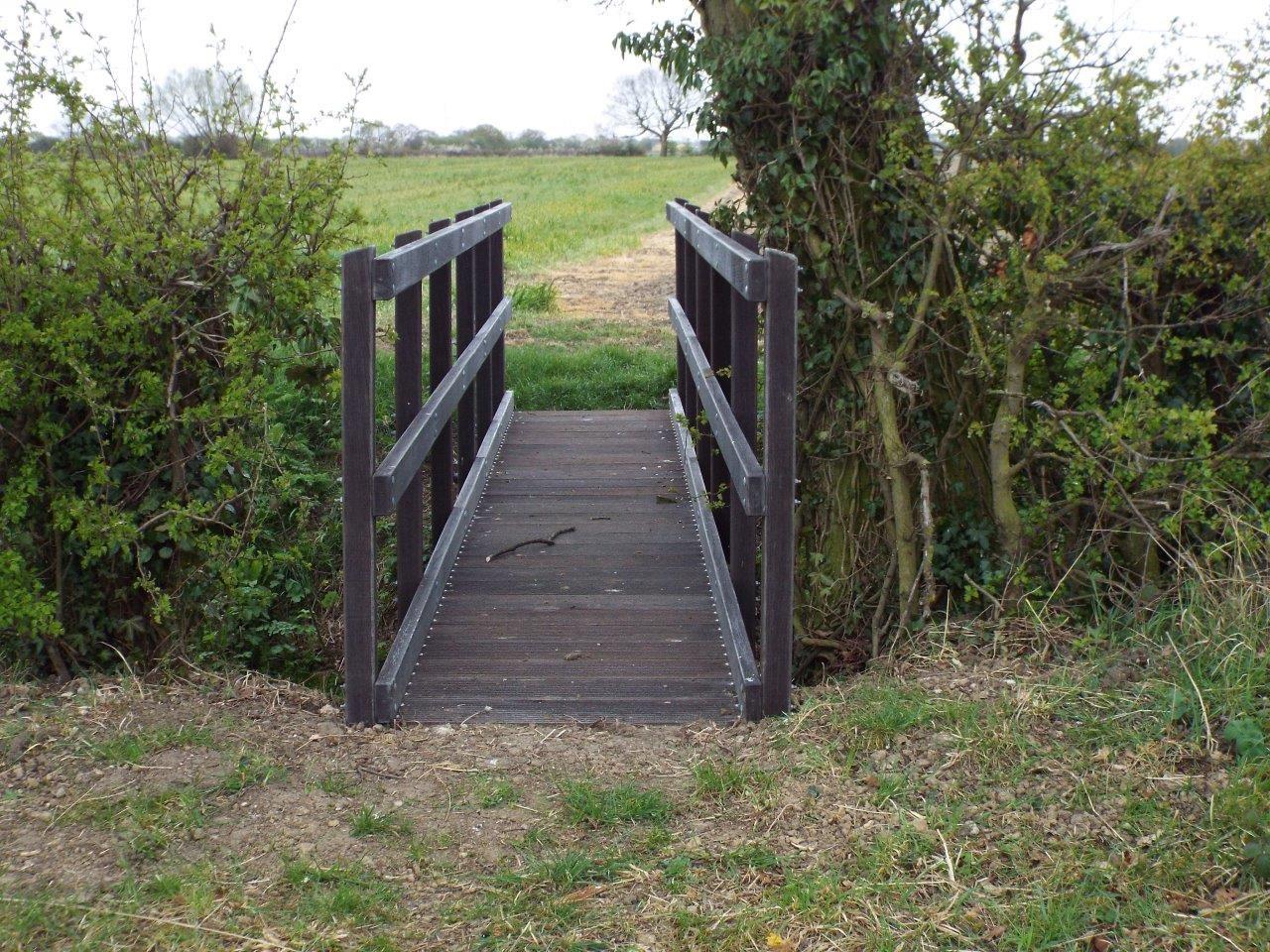 A GRP footbridge