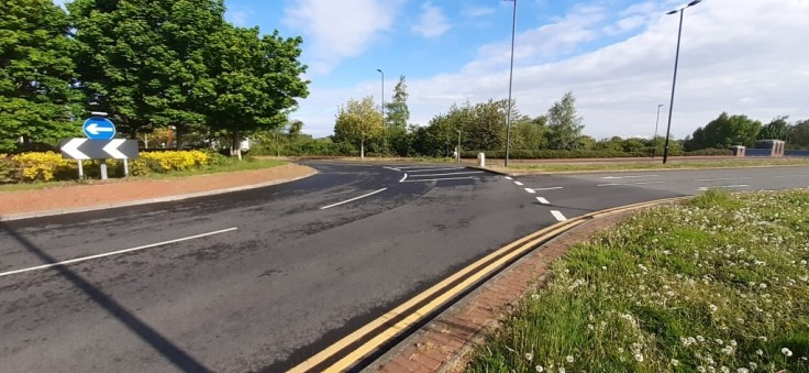 Carolina Way Roundabout at Lakeside carriageway resurfacing