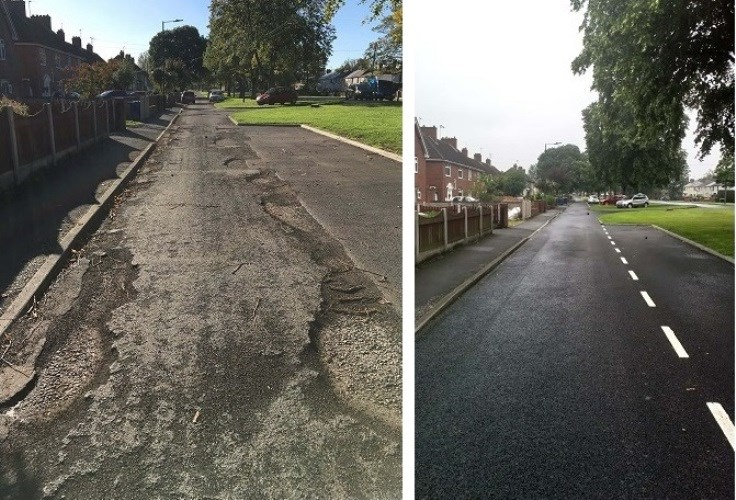 Crossfield Lane Service Road, Carcroft before and after photos