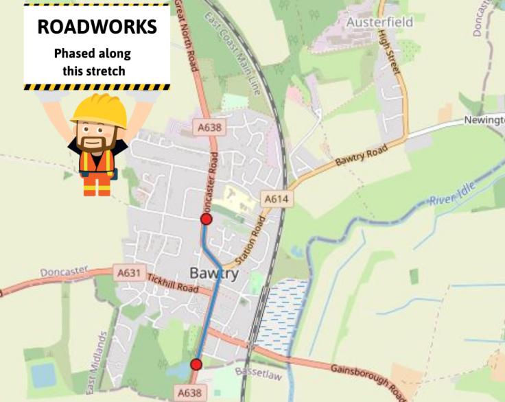 Roadworks Bawtry