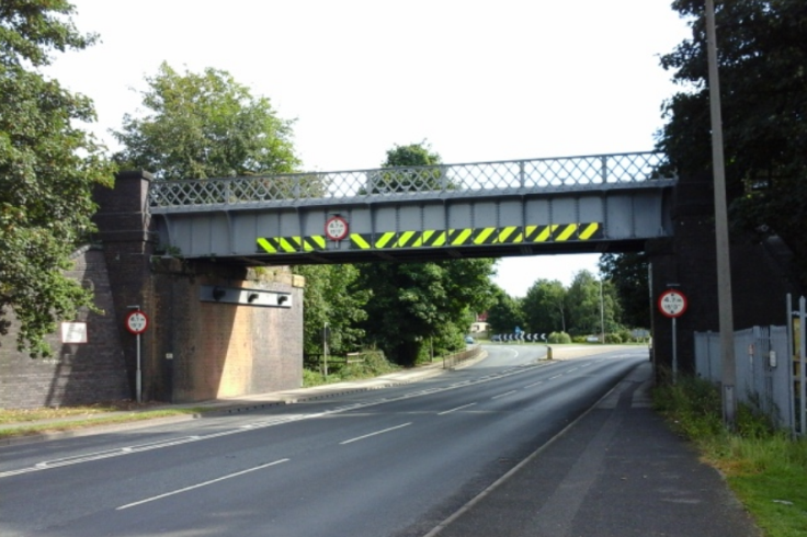 The existing Thorne Road railway bridge