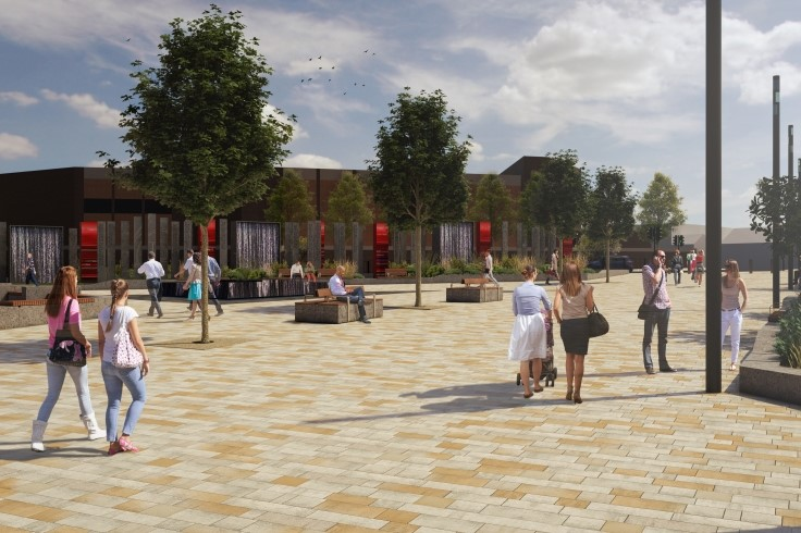 Artist impression of the train station forecourt redevelopment 1