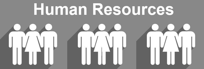 Human Resources banner of people standing in a row